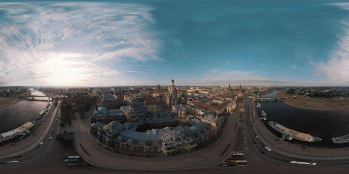 Dresden – Flug über die Altstadt